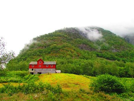 Red, Barn, Red Barn, Green, Farm, Rural, Country