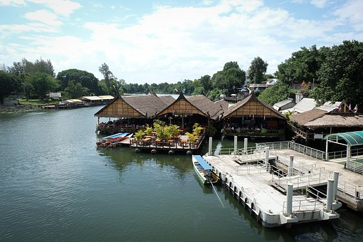 River, Raft, Kanchanaburi, Yok, River Kwai, Rafting