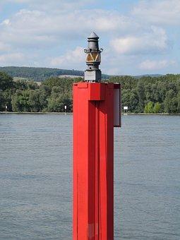 Signal, Shipping, Rhine, River, Light, Warning Light