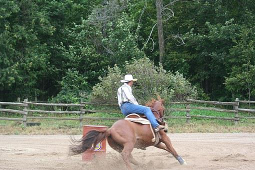 Cowboy, Rodeo, Barrel Racing, Western, Cowboy Hat