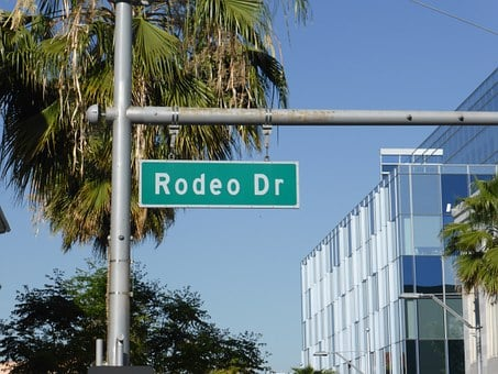 Rodeo Drive, Street Sign, Beverly, Hills, Fashion, Los