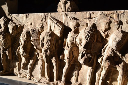 Ancient Frieze, Roman Forum, Rome, Italy, High Relief