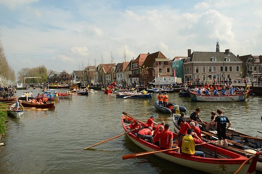 Rowing, Rowing Boat, Paddle, Contest, Boating, Weesp