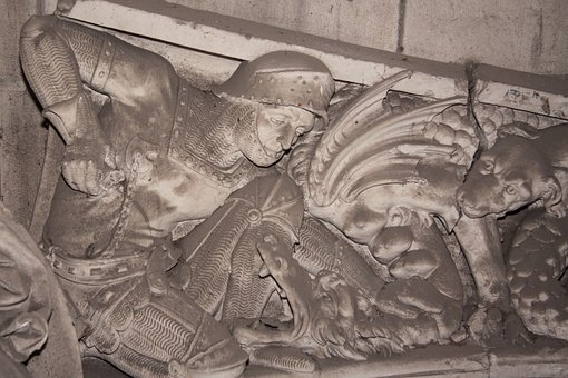 Frieze, Saint Michael, St Georg, Knight, Ritterruestung