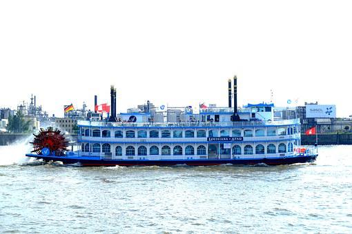 Paddle Steamer, Ship, Steamer, Water, Boat