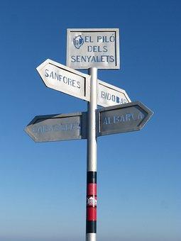 Signals, Indications, Hiking, Montsant, Signal