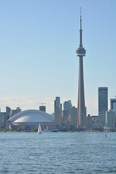 Toronto, Canada, Cn Tower, Skyline, Architecture