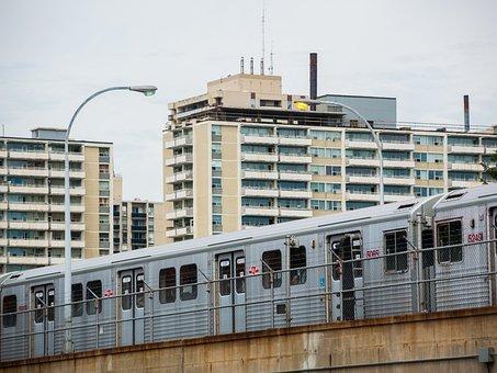 Urban, Subway, Skyline, Toronto, Landscape, Train