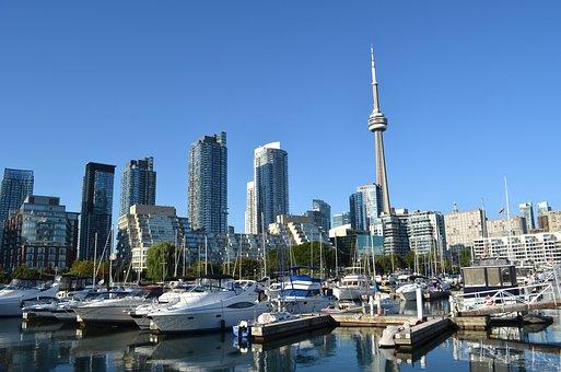 Toronto, Canada, Cn Tower, Skyscrapers, Buildings