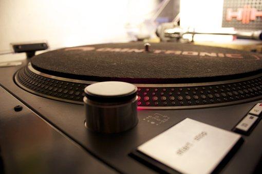 Turntable, Dj Music, Dj, Plate, Sound, Vinyl, Needle