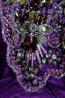 Beading, Beaded, Sequins, Sparkle, Fashion, Purple