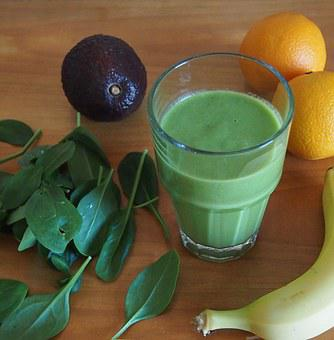 Green Smoothie, Drink, Healthy, Fruit, Juice, Spinach