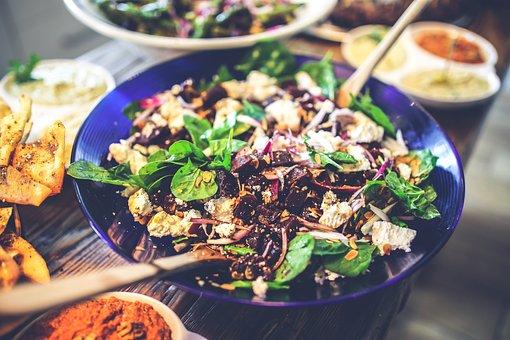 Spinach, Beet, Beta, Beetroot, Salad, Feta, Healthy