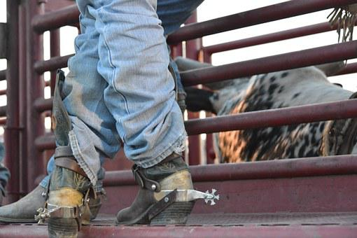 Cowboy, Boots, Spurs, Rodeo, Leather, Western, Fashion