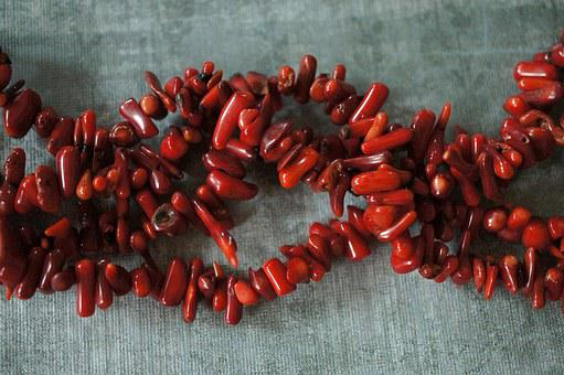 Coral, Red, Ocean, Beads, Stones, Fossil, Gemstones