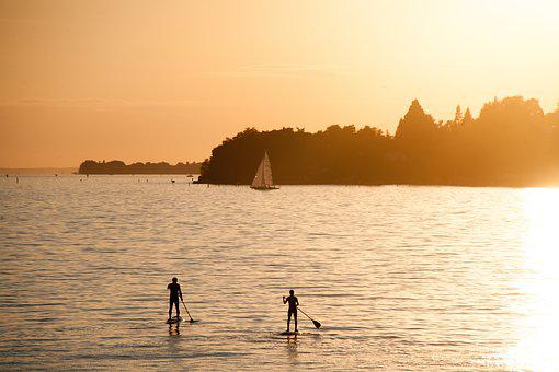 Summer, Summer Holiday, Stand Paddle, Lake Constance