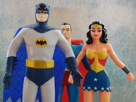 Superheroes, Batman, Wonder Woman, Superman, Comics