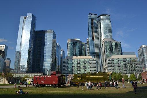 Toronto, Skyline, City, Canada, Canadian, Downtown