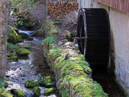 Vosges, Creek, Wheel, Mill Wheel, Torrent, Paddle Wheel