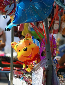 Toy, Inflatable, Colorful, Balloons, Fair, Exhibition