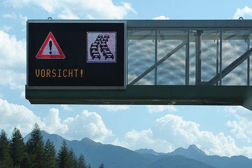 Caution Jam, Jam, Caution, Road, Note, Traffic, Signal