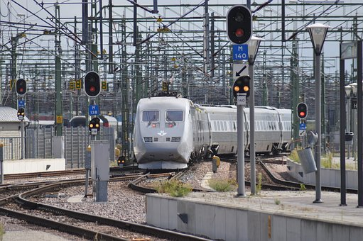 Train, X2, Intercity, Railway, Malmo, Sweden, Signal