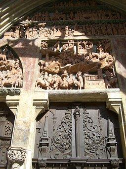 Southwest Portal, Tympanon, Archway, Frieze, Relief