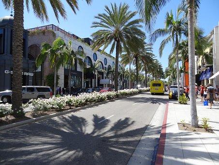 Rodeo Drive, Luxury, Avenue, California, Usa, America