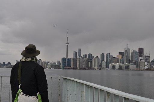 Toronto, Cn, Tower, Winter, Canada, Downtown, Island