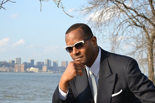 Male, Model, African American, Business, Suit, Tie