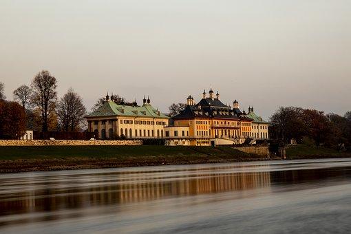 Dresden, River, Castle, Pillnitz