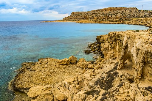 Cyprus, Cavo Greko, Landscape, Nature, Sea, Rock, Cliff