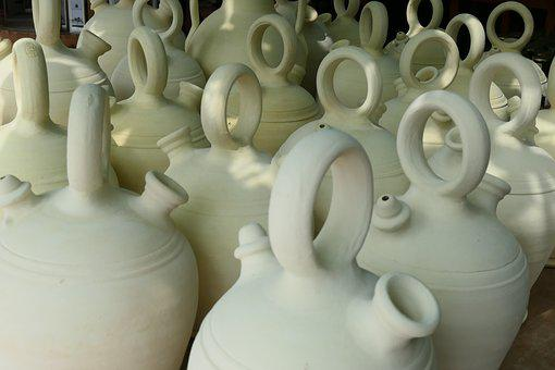 Pots, Pottery, Container, Decorative, Ceramic, Clay