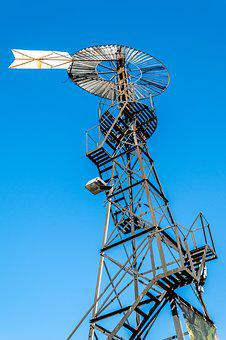 Mill, Wind, Old, Sky, Energy, Rural, Agriculture, Turn