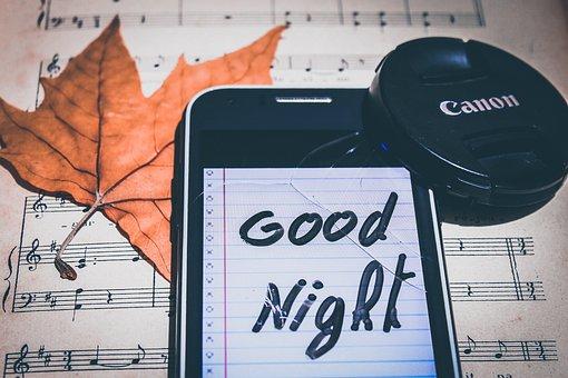 Night, Sleep, Getting Good, Lens, Note, Paper