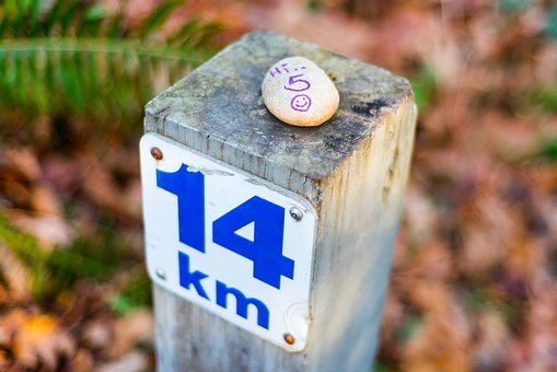 Hi 5, 14 Km, Stone, Message, Uplifting, Post, Fall