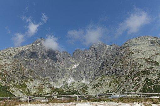 Mountains, High Tatras, Slovakia, Sky, Panorama, Clouds