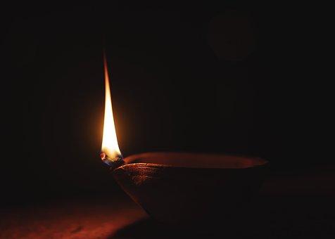 Diya, Flame, India, Deepawali, Lamp, Hinduism, Light