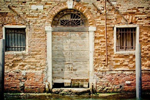 Door, Goal, Gate, Input, Venice, Italy, Arch