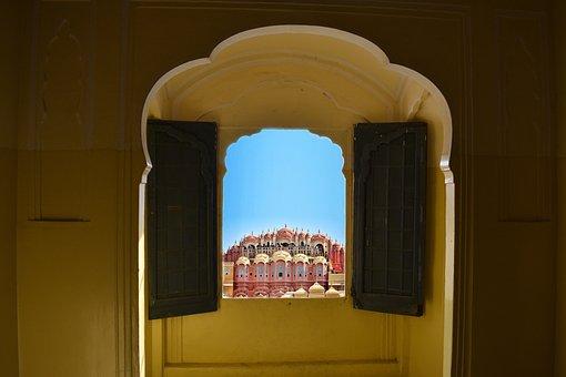Hawa Mahal, Amer Fort, India, Jaipur, Rajasthan