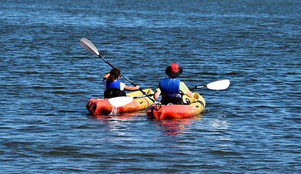 Kayaks, People, Recreation, Leisure Activity, Fun