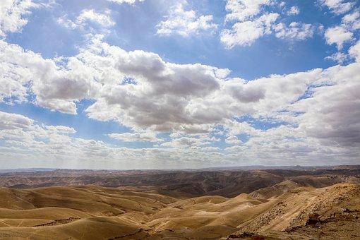 Clouds, Desert, Landscape, Sky, Nature, Road, Sunset
