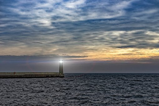 Lighthouse, Light, Way, Find, Searching, Sea, Weather