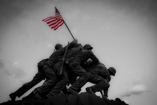 Iwo Jima, Military, Flag, Monument, Memorial, Marines