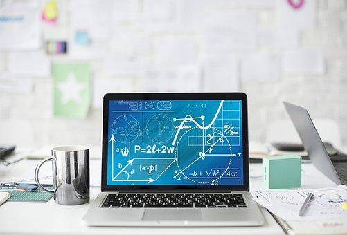 Mathematics, Maths, Computer, Laptop, Business, Graphs