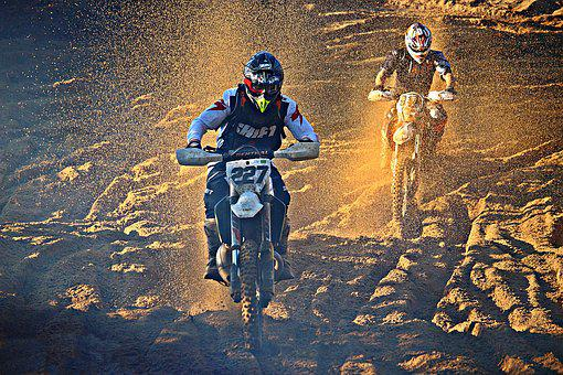 Motocross, Dirtbike, Enduro, Motorcyclist, Motorcycle