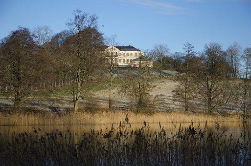 Nääs Castle, Lerum, Sweden, Tree, Forest, Winter