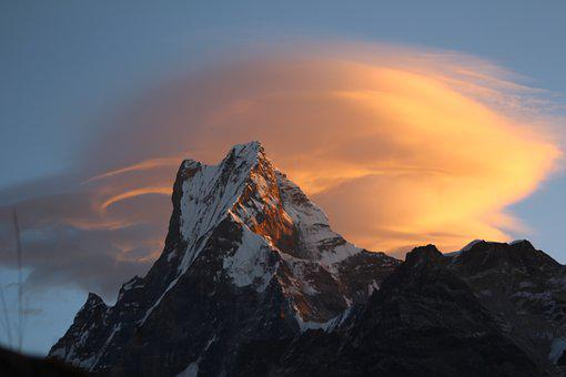 Fishtail, Mountain, Nepal, Landscape, Himalayas, Nature