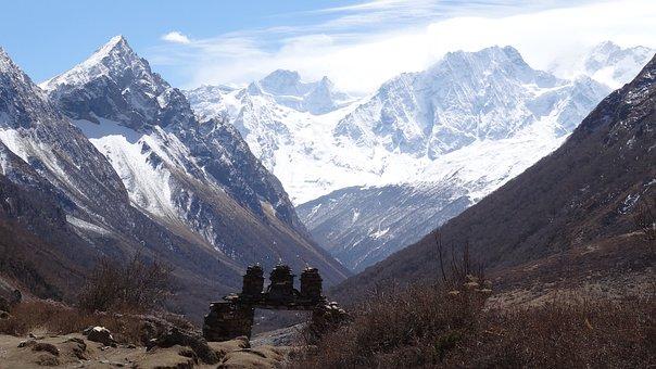 Mountains, Nepal, Himalayas, Landscape, Nature, Snow