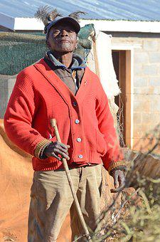 Lesotho, Basotho, Man, Africa, Hat, Work, Malealea, Red